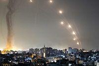 Raketen auf dem Weg vom Gazastreifen nach Israel.