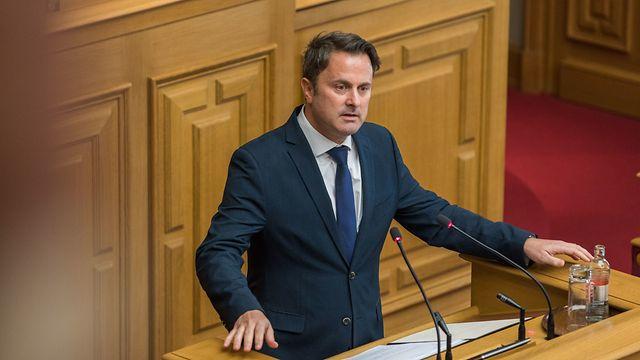 """Premier Bettel kündigte am Dienstag bei seiner Ansprache im Parlament an, dass das Land sich """"en état de crise"""" befindet."""