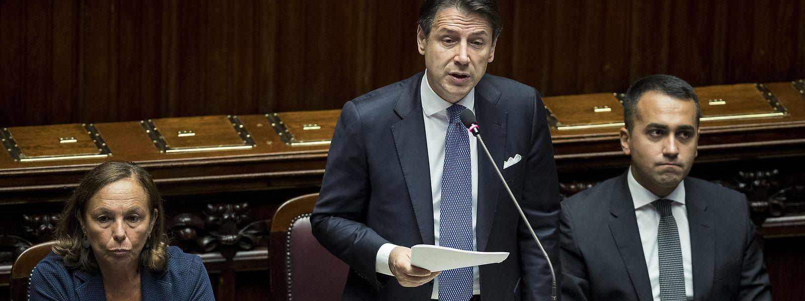 Vor dem entscheidenden Vertrauensvotum bat Conte das Parlament um Unterstützung seiner neuen linken Koalition.