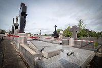 dégâts cimetière - tornade Pétange Rodange - cimetière  - Pétange - cimetière de Pétange - 16/08/2019 - photo: claude piscitelli