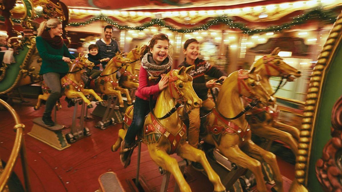 O carrossel é sempre uma atracção em qualquer parte e no parque Efteling também