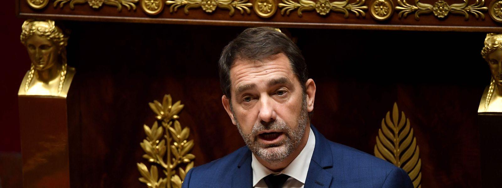 Christophe Castaner sprach am Montag vor der Assemblée Nationale.