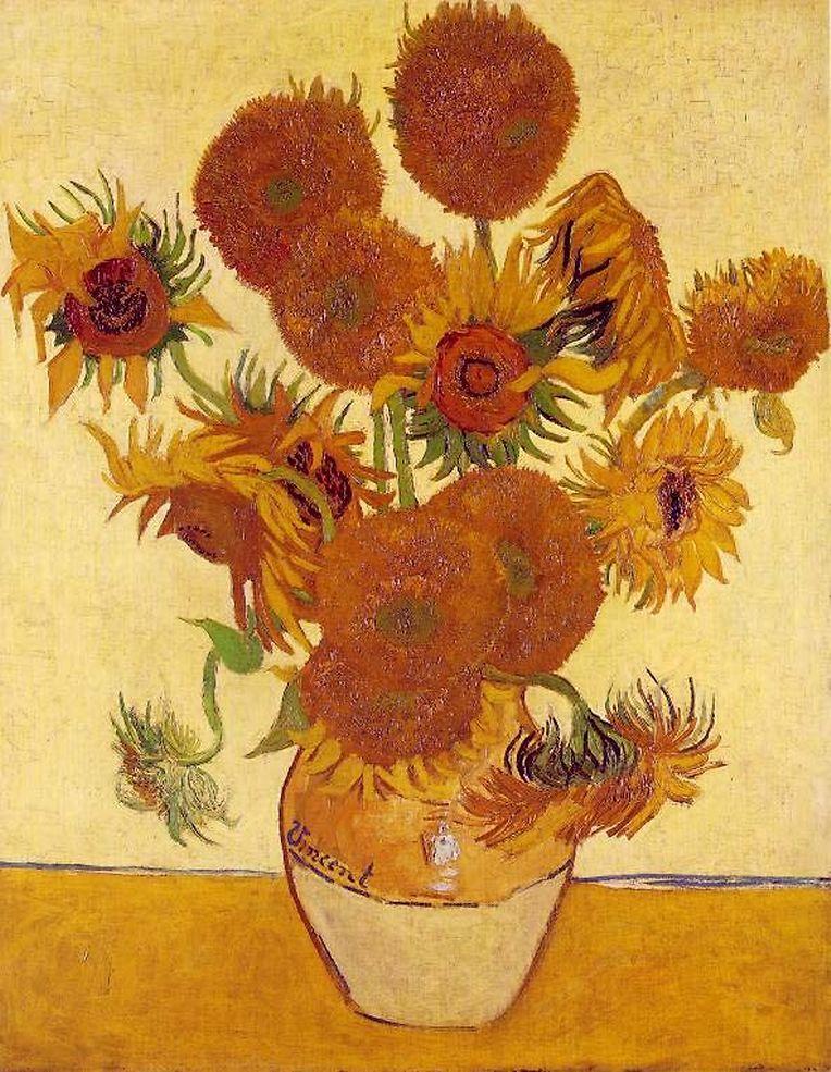 """So kennen viele Kunstfans """"Die Sonnenblumen"""" von Vincent van Gogh."""