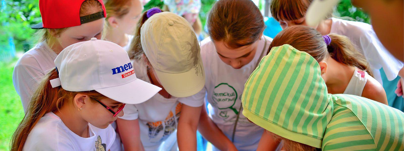 Die Teilnehmer werden während des Lagers nochmals in kleinere Gruppen eingeteilt.