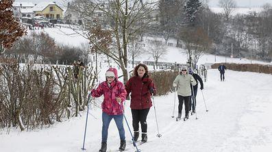 15.1.Weiswampach / Winter / Loipen und Schlittenhügel sowie Schiverleih und Iglu mit Heissgetränken sind geöffnet Foto:Guy Jallay