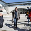 (FILES) In this file photo taken on March 29, 2017 Frederic Pechier, an anaesthetist suspected of poisoning and murder at the Besancon hospital, leaves the court after his hearing in Besancon. - Frederic Pechier, anesthetist from Besan�on, who was already indicted for the alleged poisoning of seven patients and suspected of poisoning others in 2017, was referred on May 16, 2019 to the prosecutor's office following 48 hours in custody, one of his lawyers, Randall Schwerdorffer, announced. (Photo by Sebastien Bozon / AFP)