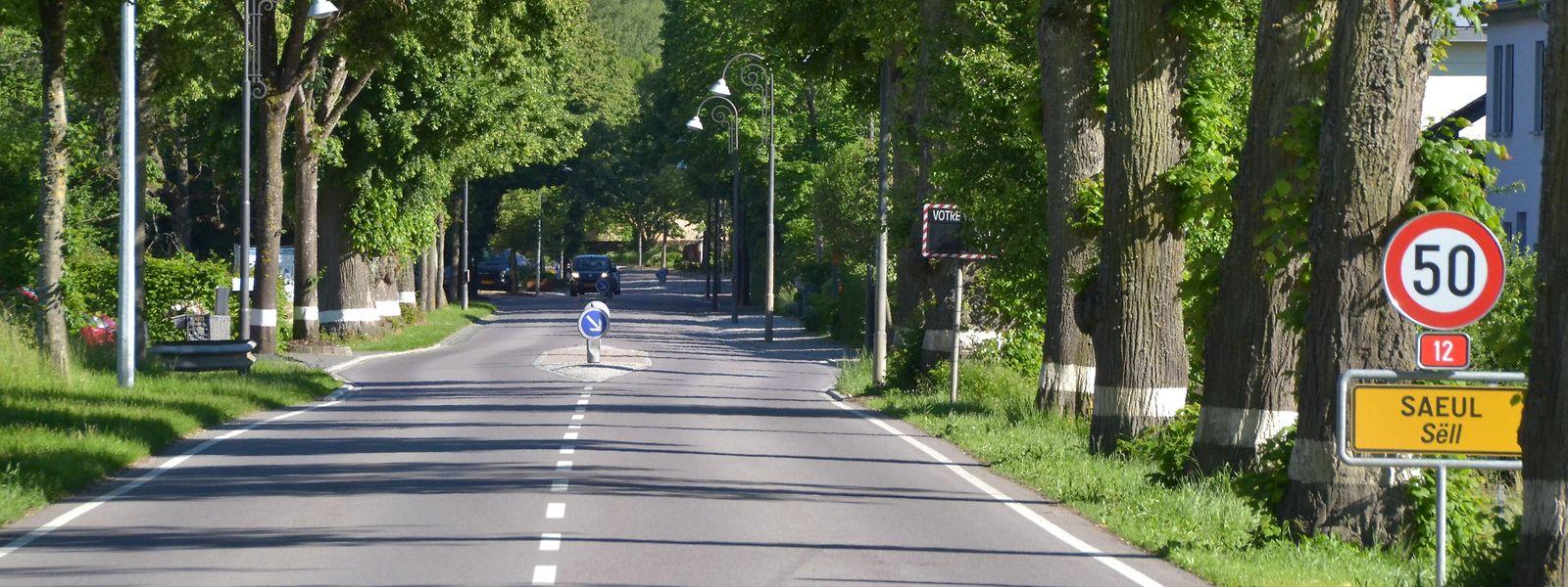 Die breite, gerade Ortseinfahrt lädt förmlich zum Schnellfahren ein.