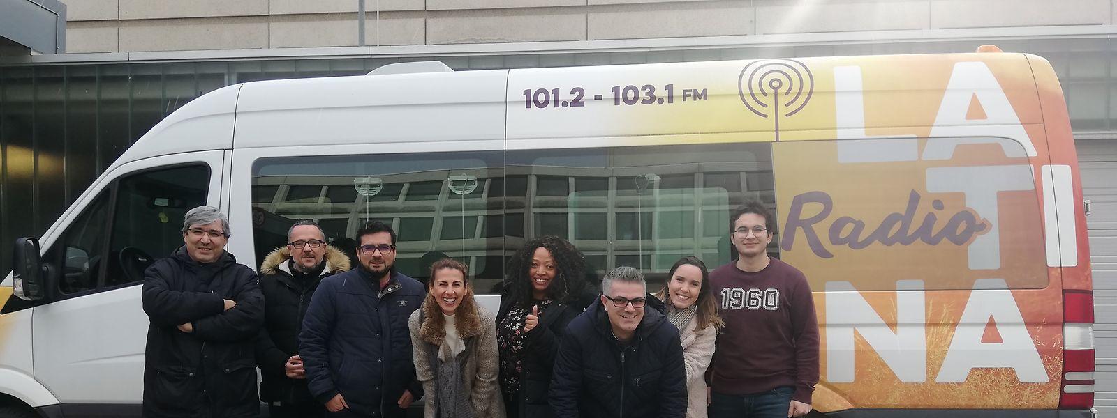 A equipa da Rádio Latina