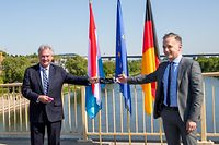 Entrevue Jean Asselborn Heiko Maas - Schengen -  - 16/05/2020 - photo: claude piscitelli