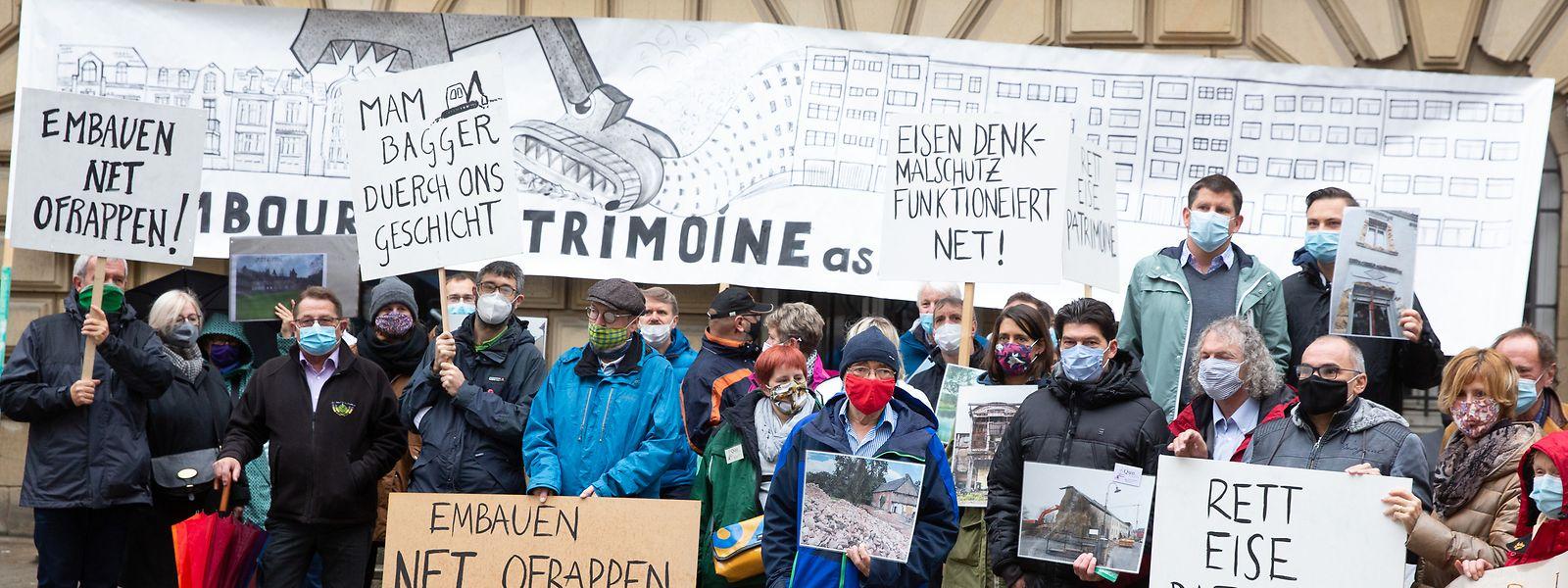 """Die Protestaktion fand im Zuge der """"European Heritage Days 2020"""" statt."""
