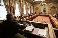 Rentrée parlementaire, Chambre des Députés.Mars di Bartolomeo qui ouvre la session. Photo: Guy Wolff