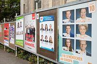 Luxemburg, Europawahlen , Wahlplakate , Foto: Guy Jallay/Luxemburger Wort