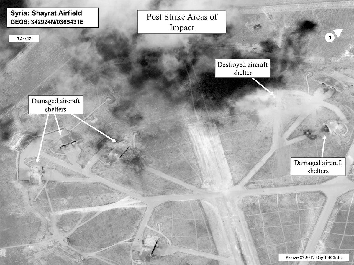 Ein Satellitenfoto der Angriffsstelle.