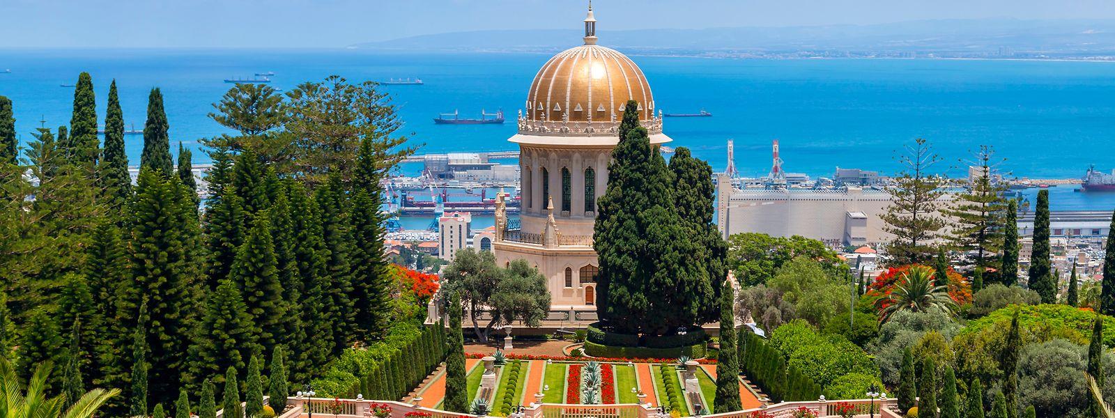 Le jardin bahaï sur le mont Carmel à Haifa en Israël, vénéré par les fidèles.