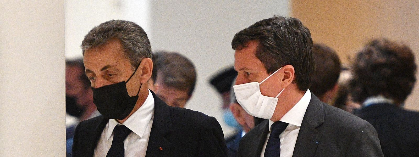 Frankreichs ehemaliger Präsident Nicolas Sarkozy bei einer Anhörung vor Gericht am 15. Juni 2021.