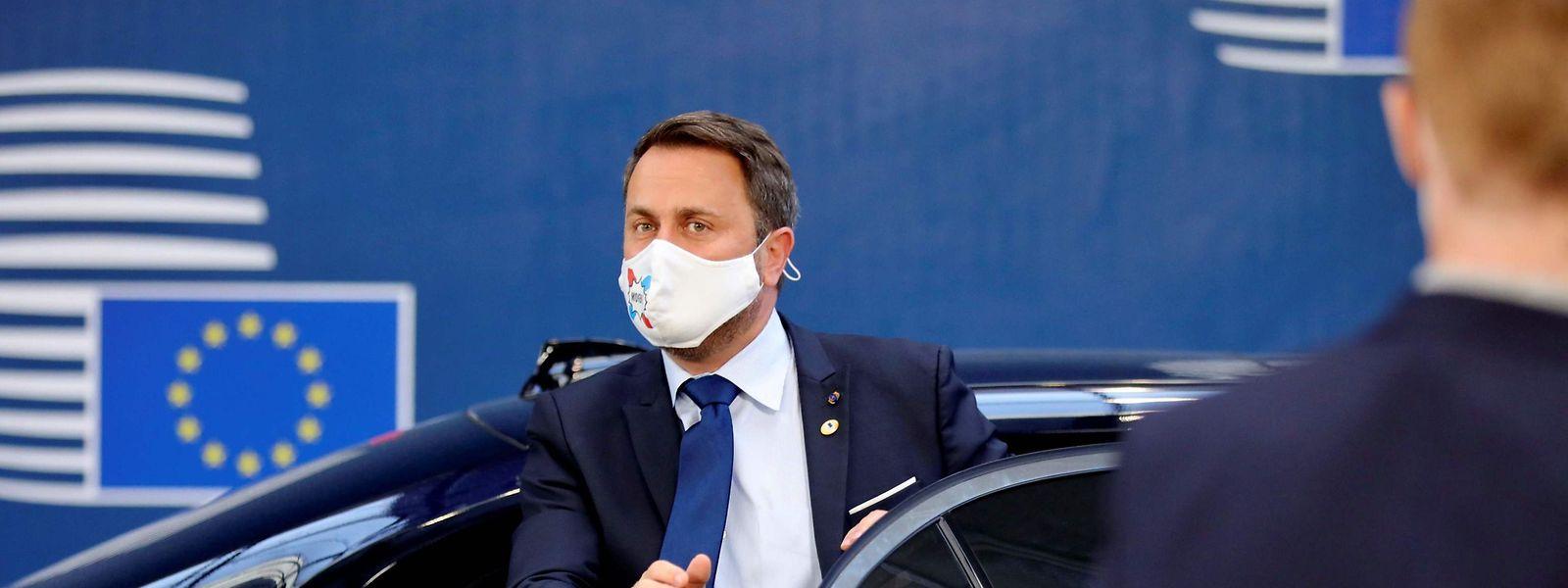 Premier Xavier Bettel auf dem Gipfel in Brüssel.