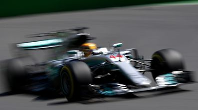 Mercedes' British driver Lewis Hamilton steers his car during the third practice session of the Formula One Azerbaijan Grand Prix at the Baku City Circuit in Baku on June 24, 2017. / AFP PHOTO / ANDREJ ISAKOVIC
