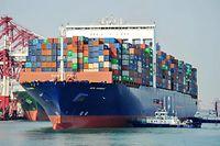 Ein vollbeladenes Schiff aus den USA in einem chinesischen Hafen: Eskaliert der Handelsstreit, wird es schmerzhaft.