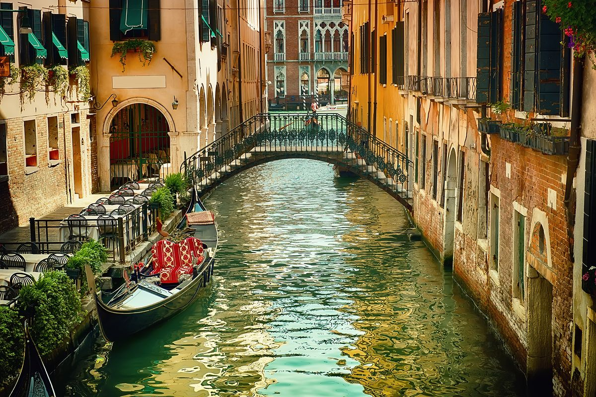 The famous waterways of Venice can be reached in 1 hour 40 minutes Photo: Shutterstock