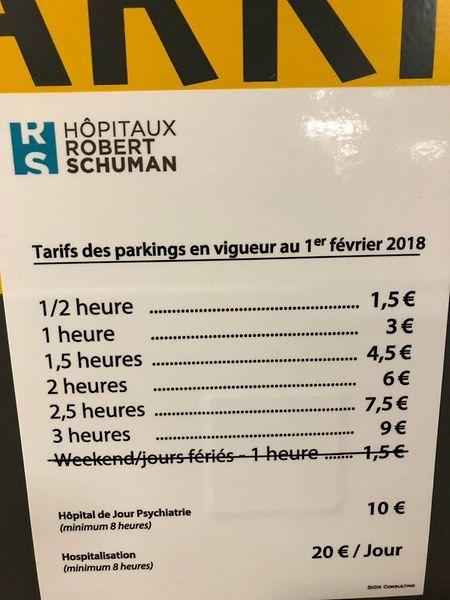 Seit Februar gelten im Hôpital Kirchberg neue Preise für die Nutzung des Parkhauses.
