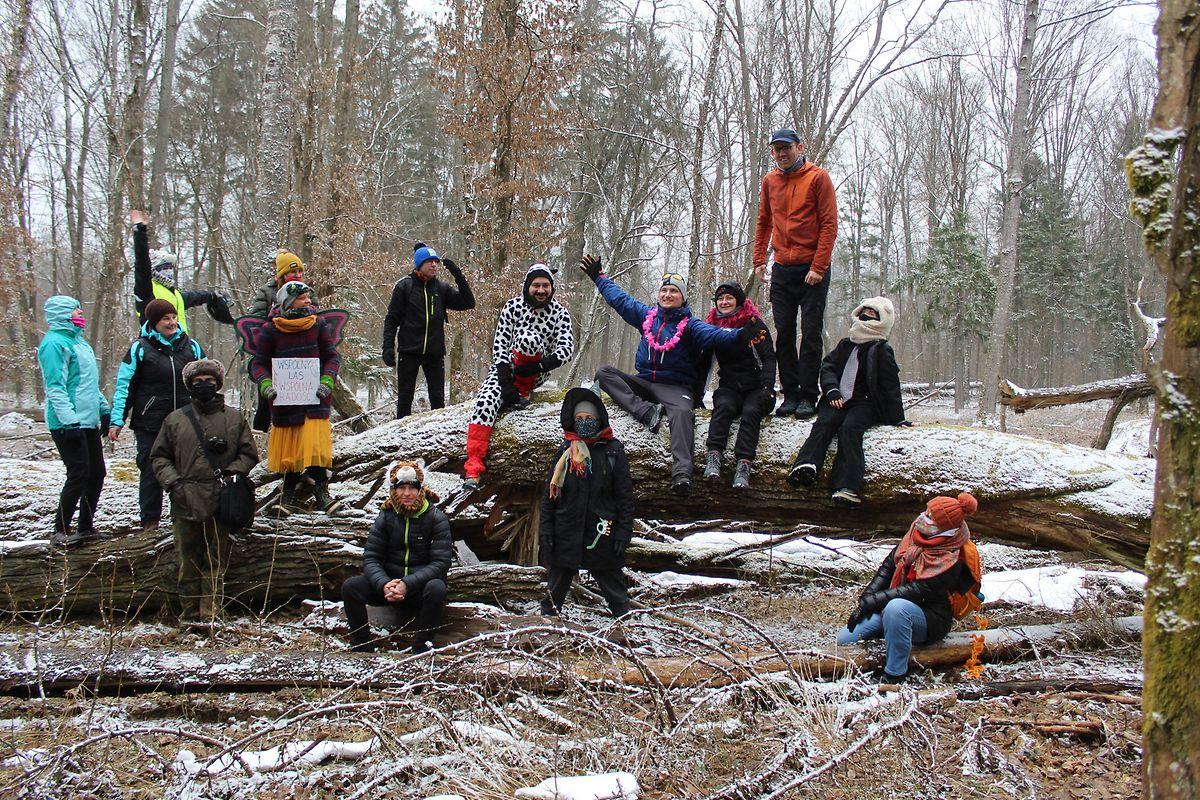La Marche pour la journée de la forêt organisée par un groupe écologiste en mars dernier.