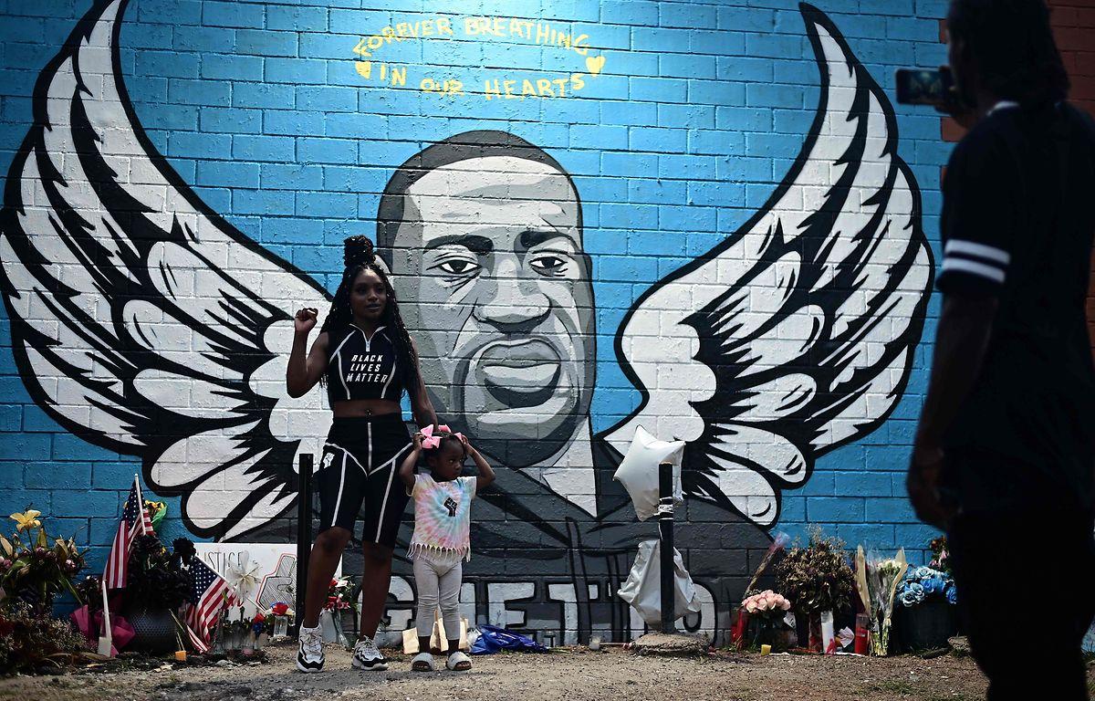 Wandmalerei in Minneapolis zu Ehren von George Floyd.