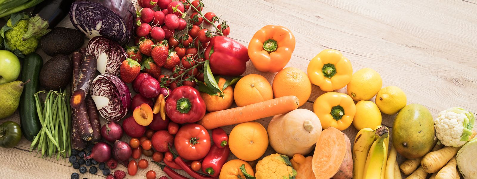 Obst und Gemüse haben einen basischen Effekt im Körper.