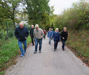 Groupe de marche / Wandergruppe - Départ Ellergronn