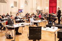 IPO,Déclaration Xavier Bettel Déconfinement,Chamber Cercle Cité. Foto: Gerry Huberty/Luxemburger Wort