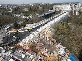 23.3.LuxVille-Gare / Pont Adolphe renoviert / Letzte Arbeiten Foto:Guy Jallay