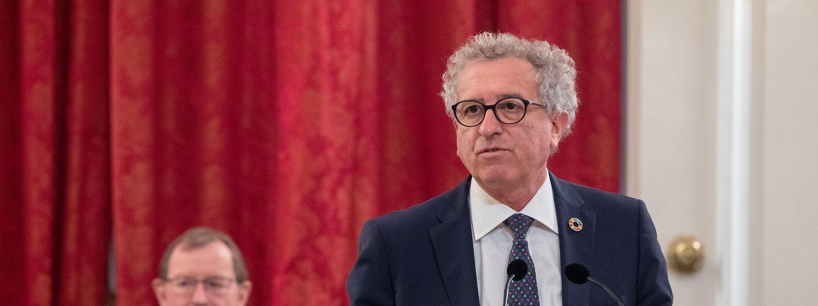 Minister Pierre Gramegna  stellt das Budget für 2021 vor.