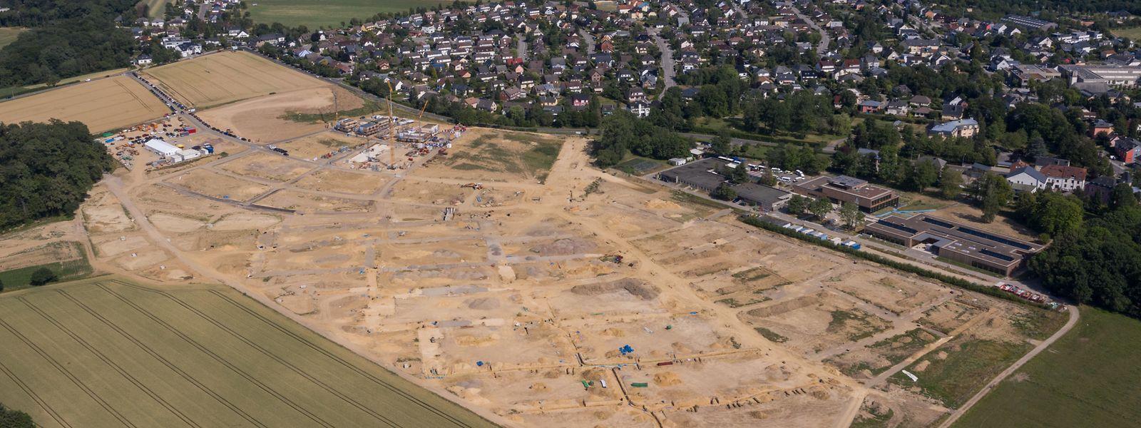 Le premier des trois villages que comptera le futur quartier d'Elmen est en cours de construction.