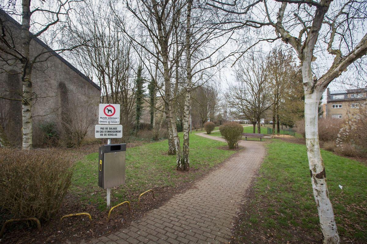 Der kleine Park entlang der Rue de la Libération wird der neuen Straße weichen.