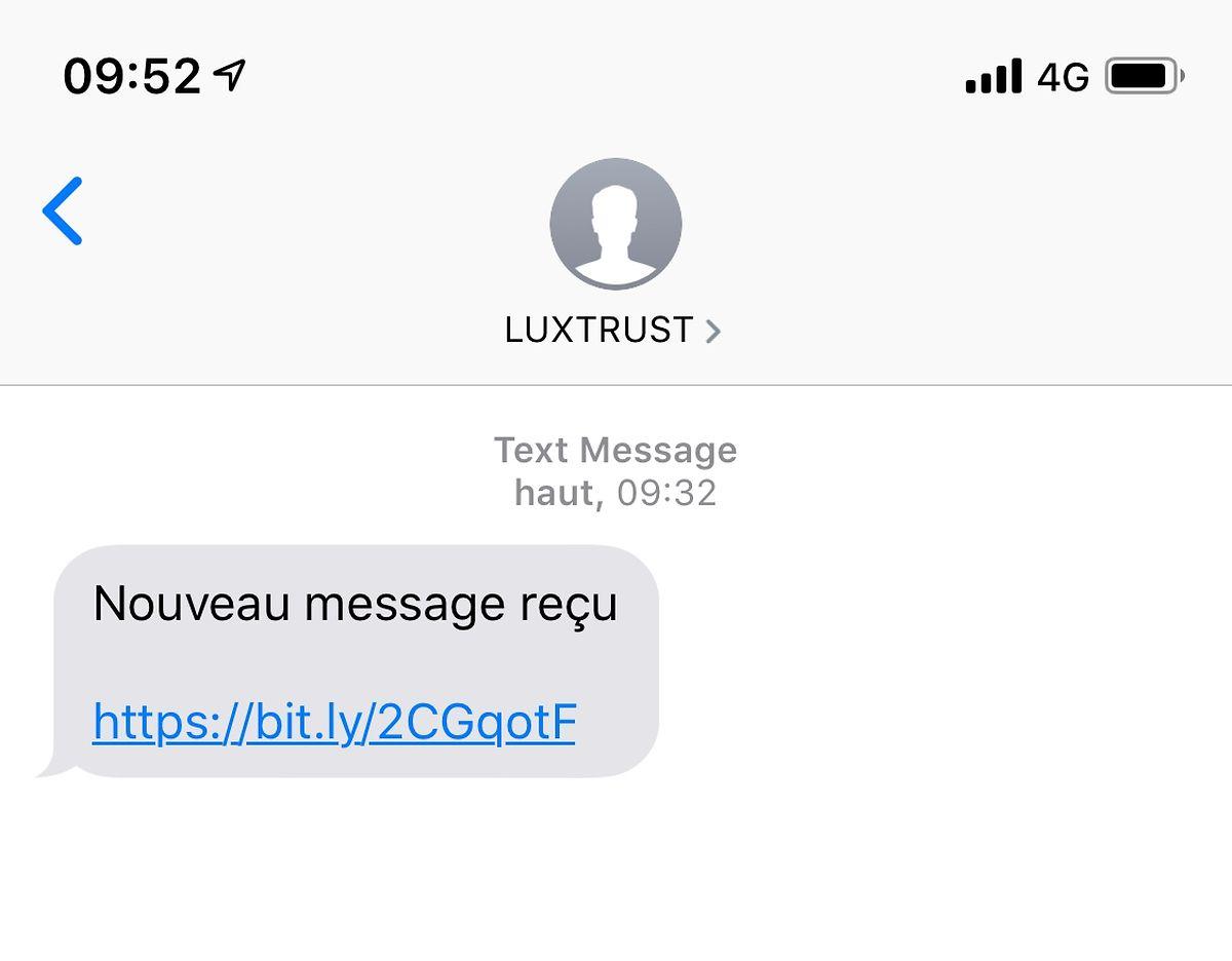 Einige LuxTrust Nutzer haben diese SMS erhalten.
