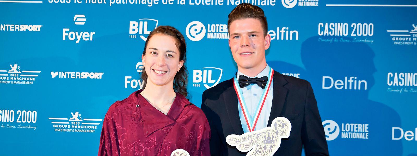 Die Radsportler stehen ganz oben: Christine Majerus und Bob Jungels sind Luxemburgs Sportler des Jahres.