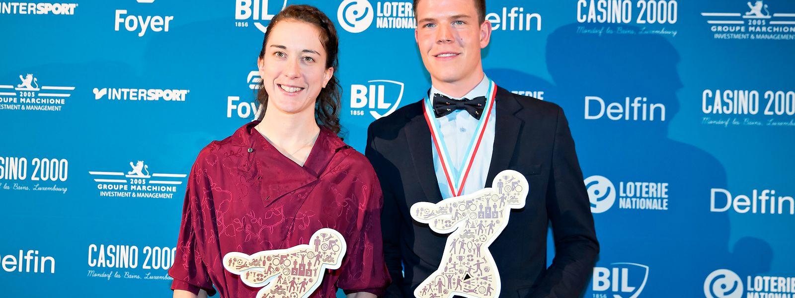 Christine Majerus und Bob Jungels / Sportspress Awards Night / Mondorf / 06.12.2018 / Foto: kuva