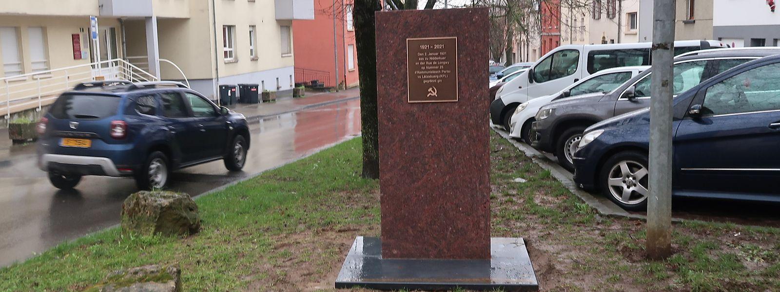 Die neue Gedenktafel befindet sich in der Rue de Longwy, in der Nähe jenes Cafés, in dem vor 100 Jahren die KPL gegründet wurde.