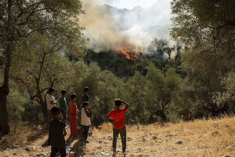 Die Lage war am Montag im Camp Moria äußerst angespannt.