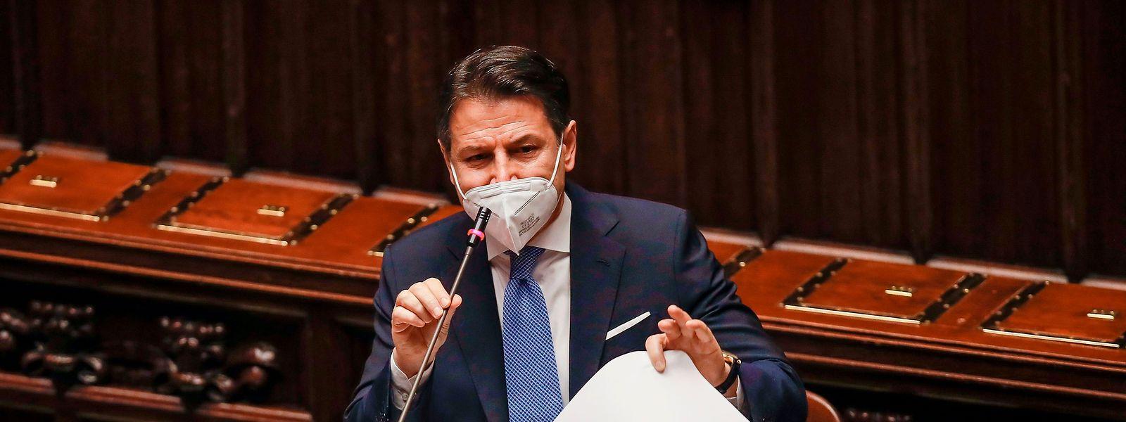 Es geht um Italiens Premierminister Giuseppe Contes politische Zukunft.