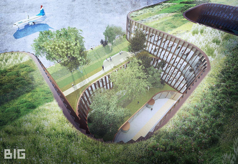 Le Skypark Business Center South sera le premier projet du cabinet d'architecture danois BIG au Luxembourg.