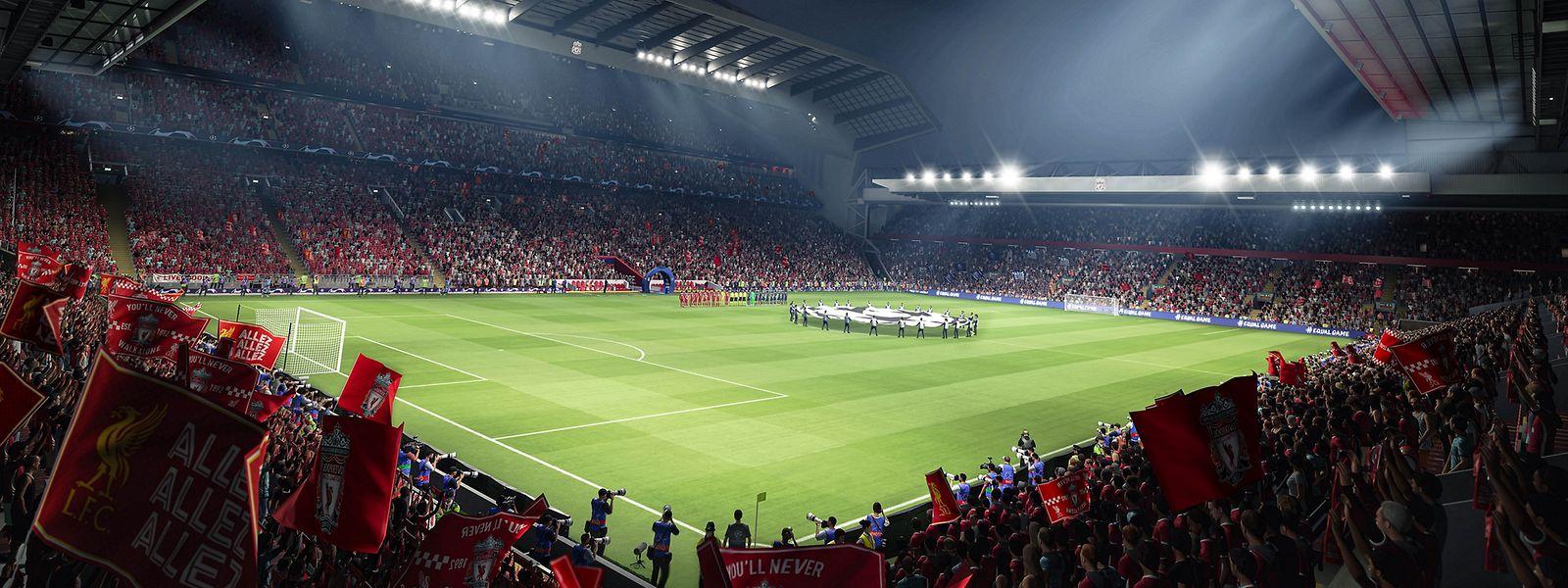 Auch die Anfield Road in Liverpool ist Teil der neusten FIFA-Generation.