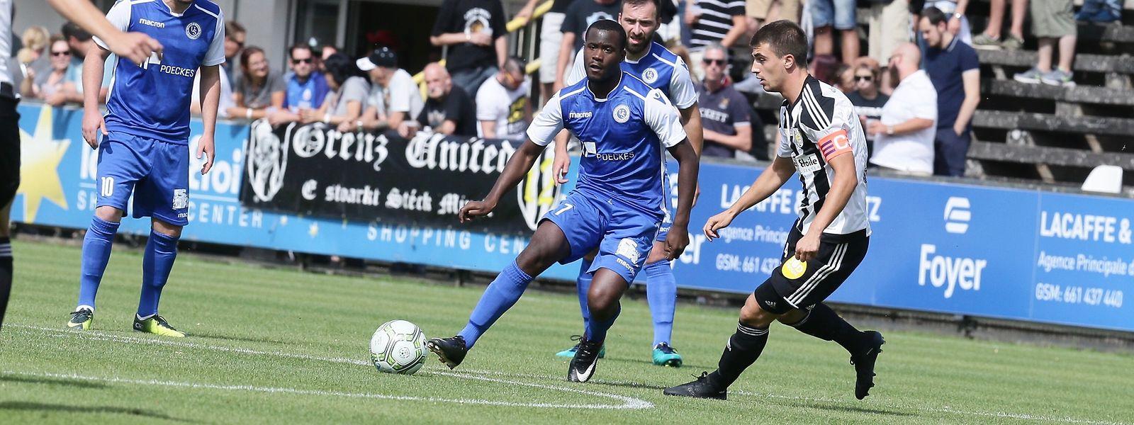 Jeunesse Esch um Kapitän Milos Todorovic (r.) musste im Heimspiel gegen Rümelingen bis zum Ende um den Sieg zittern.