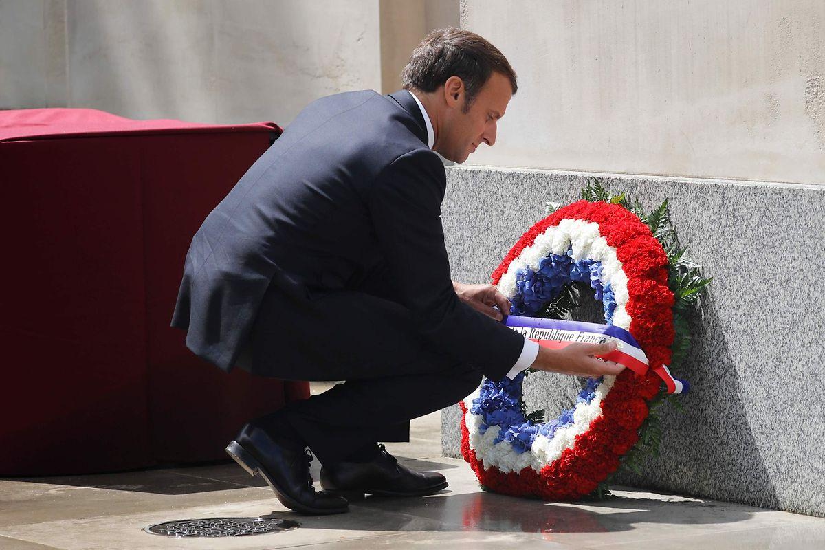 Die Debatte über rassistisch motivierte Polizeigewalt ist heikel. Präsident Emmanuel Macron (hier bei einer Hommage an Charles de Gaulle) verwehrt sich gegen den Begriff.