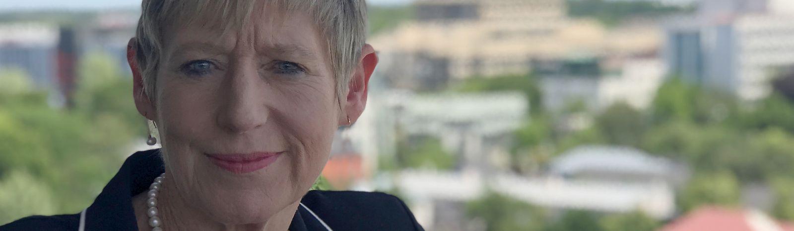 Die Bürgermeisterin der neuseeländischenStadt Christchurch, Lianne Dalziel.
