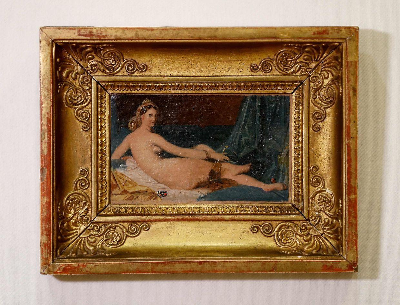 """Diese Miniatur der """"Odalisque"""" von Jean-Auguste Dominique Ingres (1780-1867) ist Teil der Jayne Wrightsman Sammlung, die im April bei Christie's in New York unter den Hammer kommen soll."""
