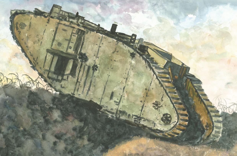 Neue Technologien des Todes im ersten Weltkrieg, ein britischer Panzer.