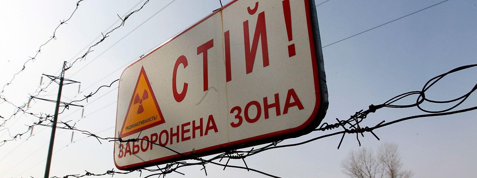 """""""Stopp! Verbotene Zone"""": Die Botschaft bleibt auch 34 Jahre nach der Reaktorhavarie von Tschernobyl unmissverständlich."""