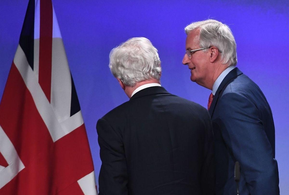 Britain's chief Brexit negotiator David Davis and his opposite, EU, number, Michel Barnier.