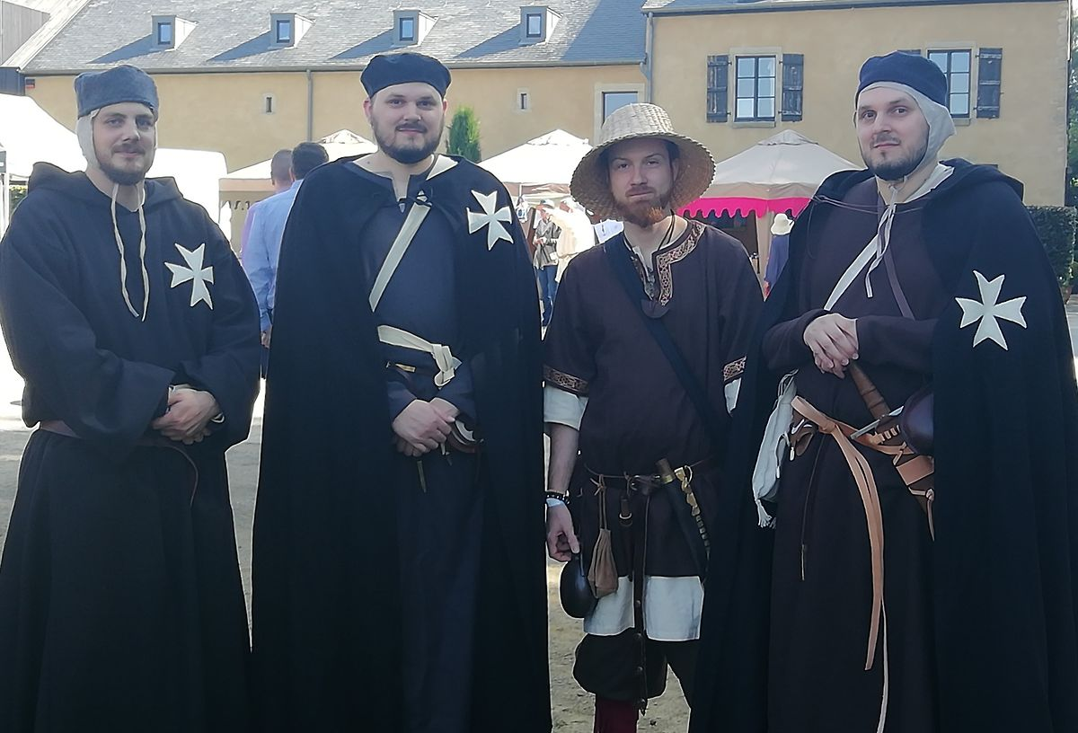 Visitors dressed in Medieval costume