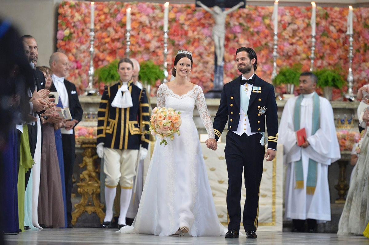 Hochzeit von Prinz Carl Philip und Prinzessin Sofia am 13. Juni 2015 in Stockholm.